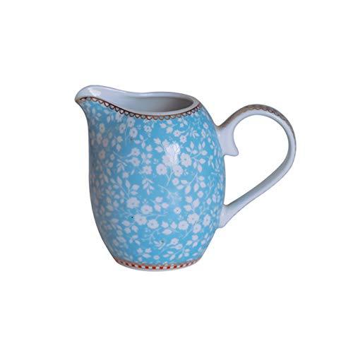 Jarritas para leche/Salsa jarra Flor de cerámica jarra de café leche, creativo Jarra de leche de estilo occidental Pequeña taza de la leche, de cerámica salsa salsa for barcos Salsera ( Color : A )
