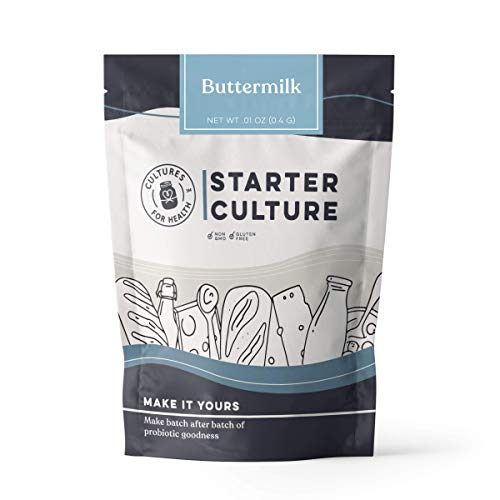 Cultures For Health Buttermilk Starter Culture | Create Batch After Batch Of Heirloom Style Buttermilk | Add To Your Pancake Mix To Be Fluffier | Tangy, Creamy, Probiotic Rich | Non-GMO, Gluten Free