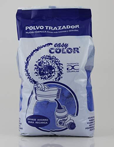 Easy Color Polvo trazador azul. Tiralíneas azulete. (azul) pigmento, cemento, hormigón.