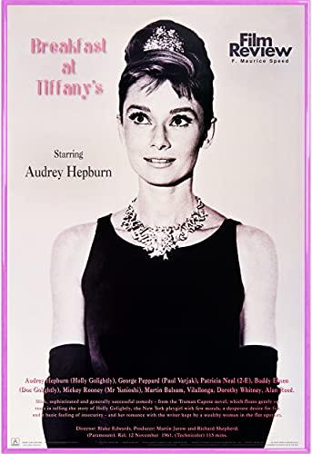 1art1 Frühstück Bei Tiffany Poster und Kunststoff-Rahmen - Audrey Hepburn - Film Review Collection (91 x 61cm)