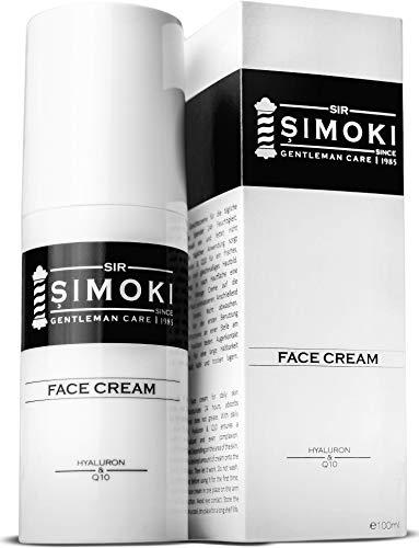 Sir Simoki tägliche Gesichtscreme für Männer – mit Hyaluron und Q10 – 100 ml feuchtigkeitsspendende Herren Gesichtspflege für 24h frische und strahlende Haut