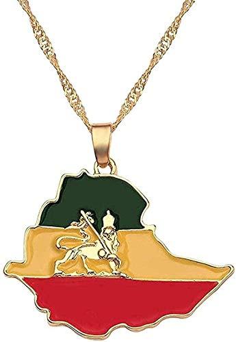 LDKAIMLLN Co.,ltd Collar Modo Irak Nigeria Ghana Australia Kurdistán Tarjeta Colgante Collar para Mujer Accesorios de joyería África fácil Mapa de Jamaica