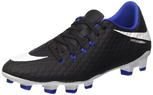 Nike Hypervenom Phelon III FG, Scarpe da Calcio Uomo, Nero (Black/White/Dark Grey/Game Royal), 40 EU