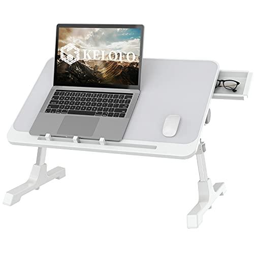 KELOFO Ordenador Portátil, Ajustable Mesa para Sofa Mesa para Portatil Cama Escritorio Portatil para Cama, Sofá, Piso