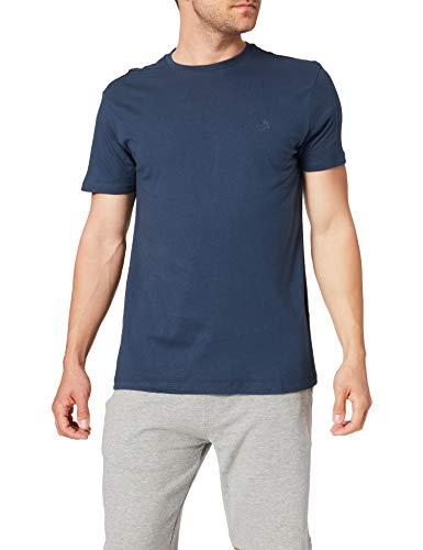 Springfield Camiseta básica Logo Camisa, Azul Medio_V1, S para Hombre