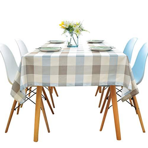 Mantel Impermeable Rectangular Manteles de Mesa Antimanchas para Tabla de cena de la familia Mesa de Comedor Cocina,Picnic 140 * 180CM/140 * 240CM