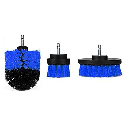 ZREAL 3-delige set met borstels voor boormachine kuip reinigingsborstel voor gereedschap voor voegen Car Boat RV