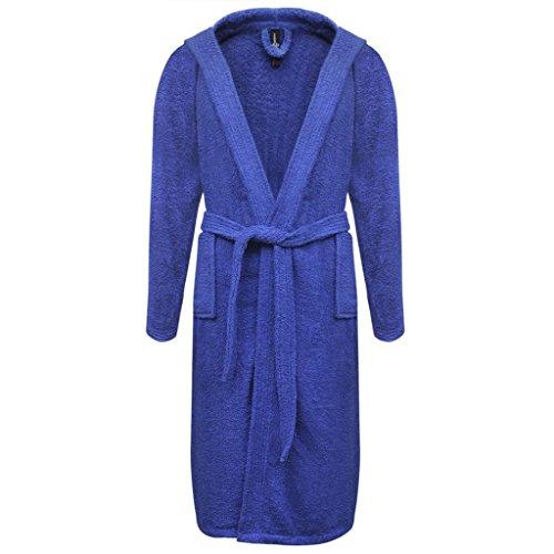 Geniet van winkelen met 500 g/m Badjas badstof blauw unisex (maat M)