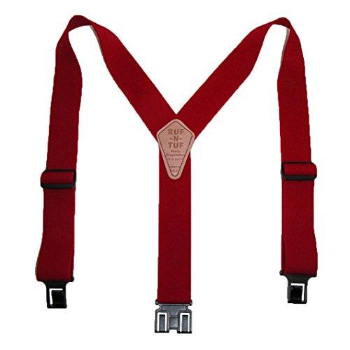 Perry Suspenders - Bretelles - Homme taille unique - Rouge - Rouge - moyen