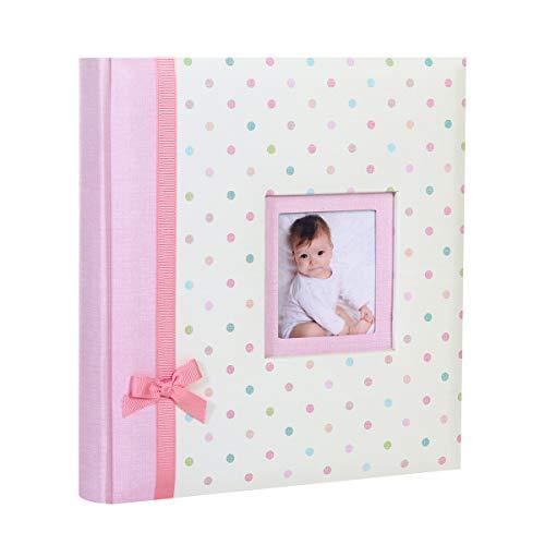 Album Photo Naissance à pochettes KARA Rose pour 200 photos 11x16 cm (ROSE A POIS)