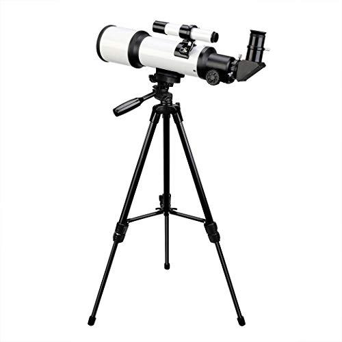 Telescopio Astronómico Primaria, Telescopio de refracción con el trípode, 90 ° Zenith Espejo del Espacio Profundo Buscador Telescopio, Mirando la Luna Stargazer