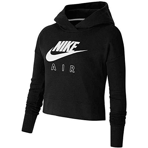 Nike NSW Air Crop Sweatshirt Black/White/White S