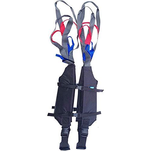 Z-SEAT Ganzkörper-Patientenlift-Sling - Toiletten-Lift-Sling mit Schutz der Brust- und Rückenstütze - Geteilter Beinriemen für ältere und behinderte Menschen