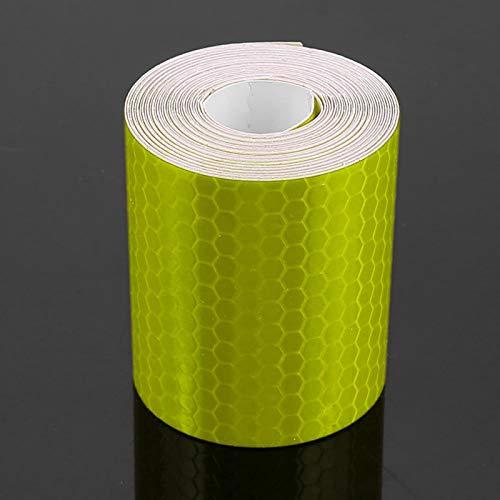 Adhesivo para bicicletas de seguridad 5cmx3m ideal para bicicletas, camiones, remolques, botes para remolques, autos, bicicletas(yellow)