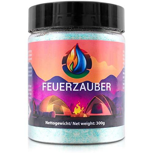 NEU ! Feuerzauber Pulver 300 Gramm + Ebook für tolle Momente am Kamin, Lagerfeuer, Outdoor Events und vieles mehr