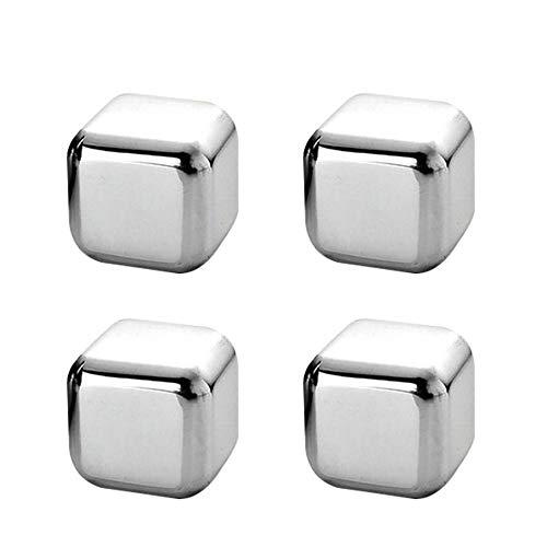 Mdurian Whisky Eiswürfel Steine 4 Edelstahl Eiswürfel Wiederverwendbare Schnell Kühltechnologie Eiswürfelformen Whisky Ice Cube Kühlsteine