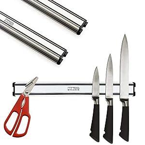 Mass Dynamic - Soporte magnético para cuchillos y utensilios de cocina, seguro para los niños, barra de almacenamiento de 32 cm