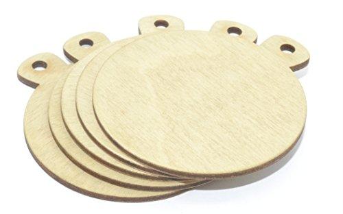 Medalla en blanco de 7 cm de diámetro, con cinta, pack de 5 unidades