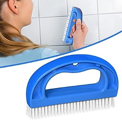SHUNWEI Stiff Bristles Grout Brush Scrubber Cleaning Bathroom Shower Grout Cleaner Brush for Tile Floors Blue