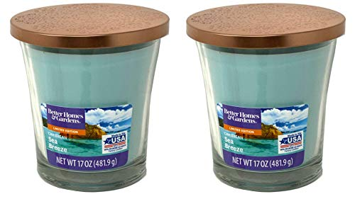 NA Better Homes Gardens 17oz Scented Candle, Caribbean Sea Breeze 2-Pack