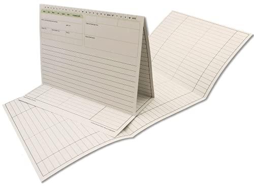 Patientenakte 100 Stück Karteitaschen nachhaltig, für Arzt, Praxis, Physiotherapie, DIN A5+, 190g/m² Recycling, Farbe: Weiß, in der praktischen Schachtel