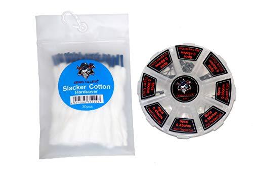 Demon Killer Coils und Watte Set Draht Schnürsenkel Watte Organic Cotton Vorgewickelte Drähte für Selbstwickler