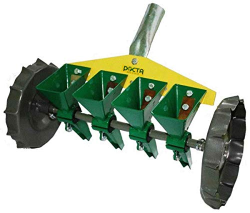 Great Features Of Precision Manual Garden Home Seeder Hand Row Vegetable Seeds 1/2/3/4/5 Rows (4 Row...