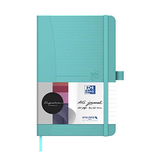1 x Oxford Notizbuch Signature A6 kariert weißes Papier 80 Blatt 90 g/m² Hardcover in türkis 1 Stück