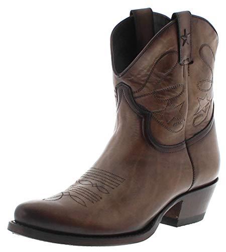 Mayura Boots Dames Cowboy laarzen 2374 taupe lederen laarzen bruin