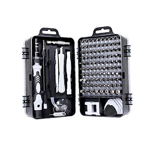 GGOOD 115 en 1 Juego de Destornilladores Destornillador bit Kit multifunción de precisión de reparación de teléfonos Dispositivo de Herramientas de Mano Torx Destornillador Hexagonal Negro