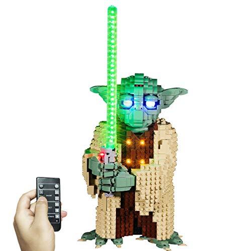 WEEGO Kit di Illuminazione a LED per LEGO Star Wars Yoda, Compatibile con Lego 75255 Modello Building Blocks (Non Include Il Set Lego)