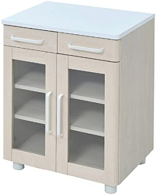 JKプラン プチシリーズ 食器棚 ホワイトナチュラル fb-010-whna