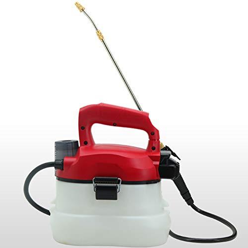 JIXIN Pulverizador De Mochila con Atomizador De Niebla Eléctrica - Soplador De Niebla De 4L con Batería De Litio, Recargable,Rojo