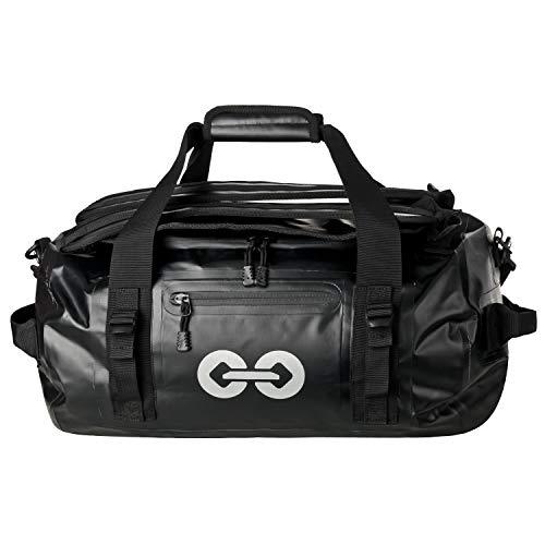 URBAN ZWEIRAD wasserdichte Reisetasche Duffel Bag schwarz- Transporttasche mit Rucksack-Funktion Waterproof verschweißt - 30 und 50 Liter (30 Liter)