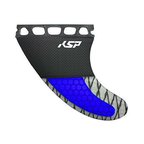KSP Set 3 Flossen Future Carbon Blue für Wave Board Kite Surf