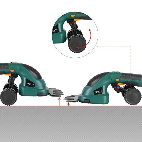 FIXKIT Set di Tagliasiepi, Tagliasiepi Elettrico e Batteria 7.2V 1500mAh con Caricabatterie, Tagliasiepi Elettrico da Giardino, 85 Minuti di Continuo Utilizzo