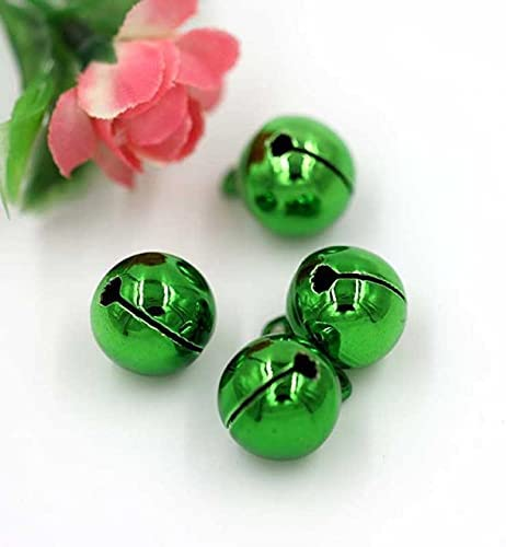 20pcs OFFicial overseas store Multicolors 14mm Smooth Jingle Small Christmas D Bells Fit