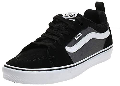 Vans Herren Filmore Suede/Canvas Sneaker, Schwarz ((Suede Canvas) Black/Pewter T2J), 44 EU