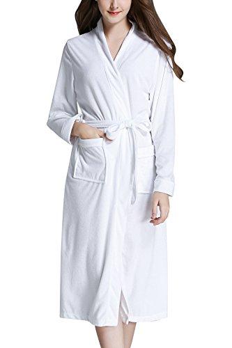 Dolamen Unisex Dames Badjas Lange Dressing Jurk, Handdoek Zachte Dames Breien Badjas Bruidsmeisje Bruiloft Housecoat Nachtkleding Pyjama met Pocket