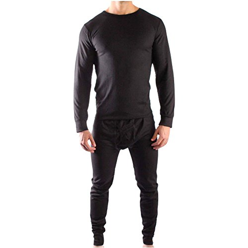 ToBeInStyle Men's Thermal Set - Black Size - X-Large