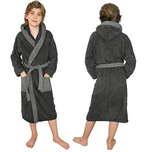 Homelel badstof badjas voor kinderen, van 100% katoen, voor meisjes en jongens