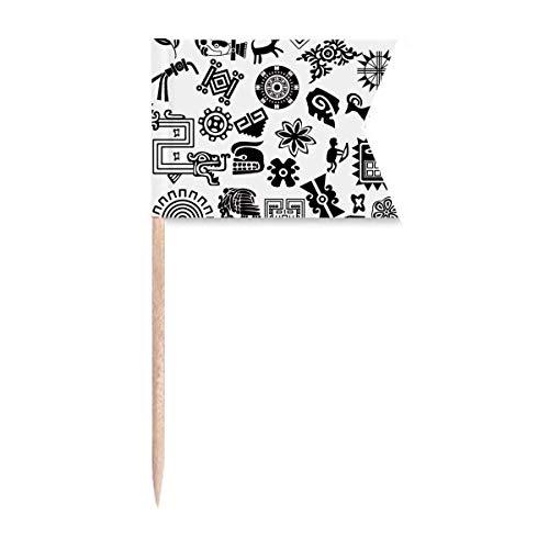 """Beauty Gift Antikes Ã""""gypten Art Dekoratives Muster Markierung für die Kennzeichnung von Zahnstocher-Flaggen"""