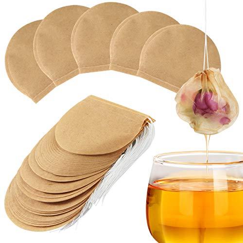 Petyoung Sacchetti Filtro da Tè da 300 Pezzi per Tè Sfuso Infusore di Tè Usa E Getta Sacchetto di Carta Non Sbiancato Sicuro E Materiale Naturale con Cordoncino Vuoto
