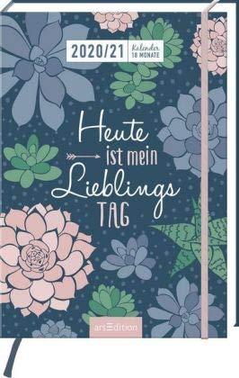Heute ist mein Lieblingstag - Kalenderbuch A5 für 18 Monate - Kalender 2021 - arsEdition-Verlag - Taschenkalender mit Softcover, Gummiband und Lesebändchen - 1 Woche auf 2 Seiten - 15,4 cm x 21,6 cm
