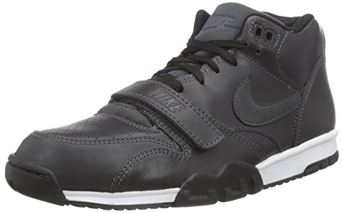 Nike Air Trainer 1 Mid, Zapatillas Altas Hombre, Negro (Anthrct/Anthrct-blk-LSR orng), 42 EU