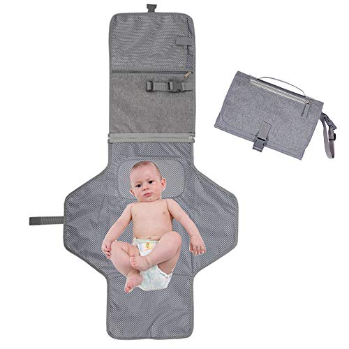 Yafane Tragbare Wickelunterlage für Unterwegs mit Abnehmbarer und Abwischbarer Matte Wickeltasche Wickelstation Wasserdichte und Faltbare Windelmatte für Baby auf Reise