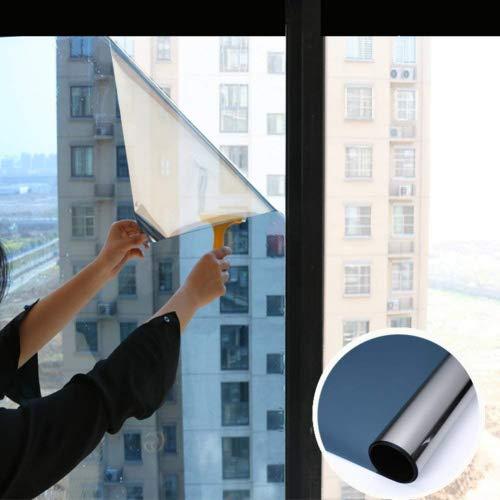 YQ WHJB Spiegelfolie Fensterfolie,Anti-uv Sonnen schutzfolie,Pet Selbstklebend Hinfahrt Ablehnung der Ex-Schutz Glas Balkon Küche Sun Control sonnenschutzfolien-Blau 120x100cm(47x39inch)