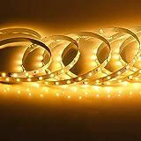 BRTLX LEDテープライト USB 2m 両面テープ 暖かい黄色光 LEDテープ 防水 間接照明 室内ledテープ 高演色 ストリップライト 正面発光 貼り付け 切断可能 2835SMD高輝度 テープライト LED バーライト 足元 ベッドルーム キッチン パーティー装飾 クリスマス装飾