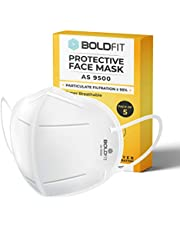 Boldfit AS9500 mask for face, Anti Pollution, protective. Third Party Tested by manufacturer at SGS & Ministry of Textiles