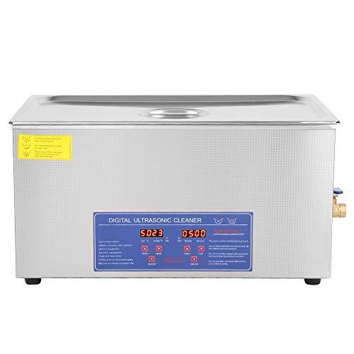Máquina de Limpieza por Ultrasonidos,,Acero Inoxidable con Temporizador Digital Tiempo y Temperatura Regulables Limpieza Profesional Gafas Relojes Joyas Dentaduras Postizas Equipo de Laboratorio